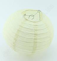 Бумажный подвесной фонарик, кремовый, 25 см