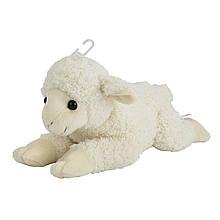 Мягкая игрушка «Nicotoy» (5844478) плюшевый лежащий ягнёнок, 30 см (белый)