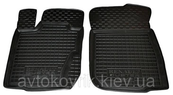 Полиуретановые передние коврики в салон Renault Duster 2012-2014 4WD (российская сборка) (AVTO-GUMM)