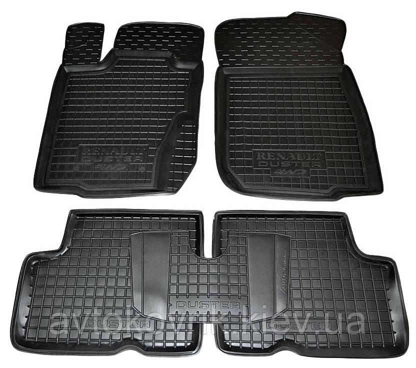 Полиуретановые коврики в салон Renault Duster 2012-2014 4WD (российская сборка) (AVTO-GUMM)