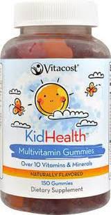 Вітаміни дитячі жувальні Vitacost KidHealth 150шт