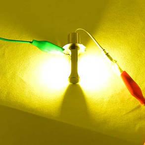 Светодиодная лампа в ПТФ, SLP LED под цоколь H3 светодиоды типа COB 18W 9-30 В. Желтый, фото 2