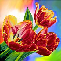 Схема для вышивки бисером POINT ART Тюльпаны, размер 35х35 см