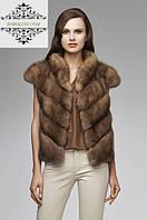 """Купить стильный жилет из меха соболя """"Стефания"""" , длина 60 см"""