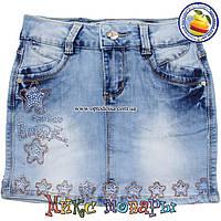 Светлые юбки из джинсовой ткани для девочек от 7 до 14 лет пр- во Фабричный Китай (4421)