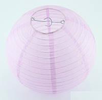Бумажный подвесной фонарик, лавандовый/сиреневый, 35 см
