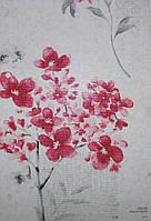 Рулонные шторы Одесса Ткань Флора Розовый