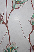 Рулонные шторы Одесса Ткань Флора Салатовый