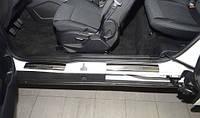 Накладки на пороги Ford B-Max 2012- 4шт. premium