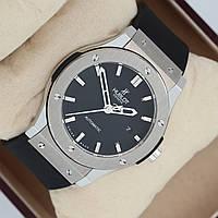 Мужские механические наручные часы Hublot Classic Fusion на каучуковом ремешке