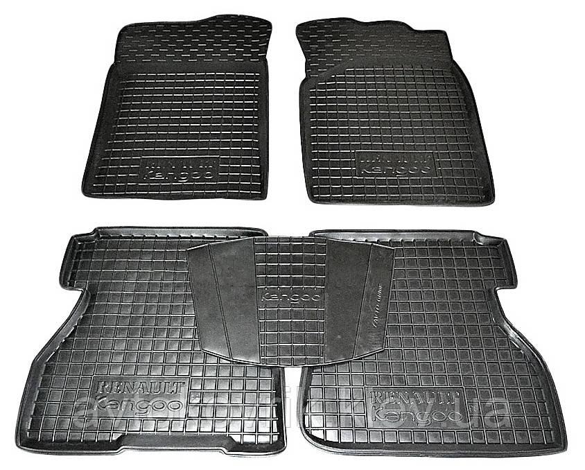 Полиуретановые коврики в салон Renault Kangoo I 1998-2007 (4 дв) (AVTO-GUMM)