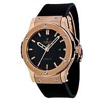 Мужские механические наручные часы Hublot Classic Fusion на каучуковом ремешке, фото 1