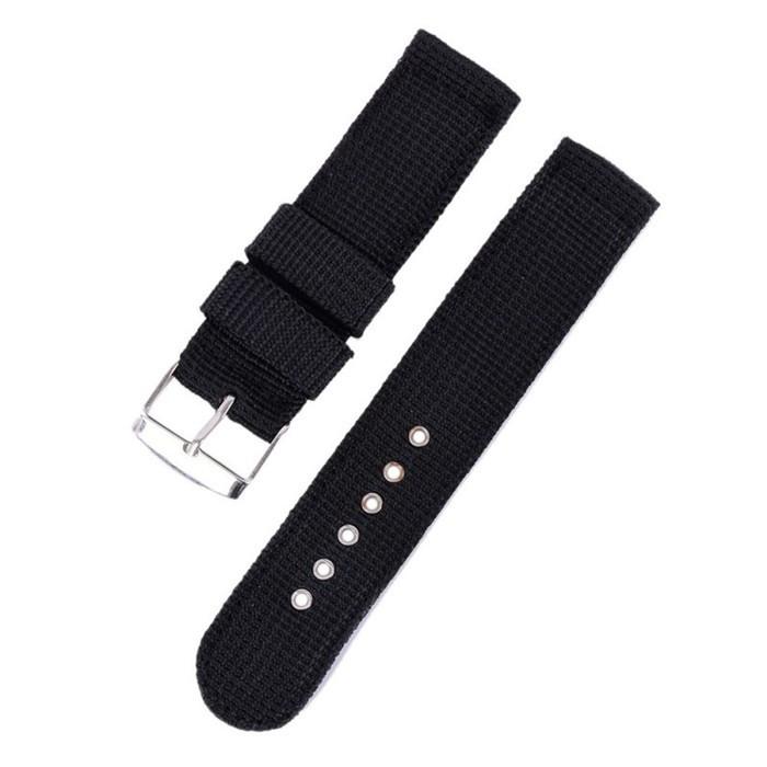 Ремешок для часов капроновый черный (22 мм)