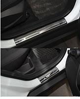 Накладки на пороги Ford Focus III 2011- 4шт. premium