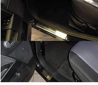 Накладки на пороги Ford Fusion 2002- 4шт. premium