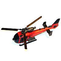 Модель вертолета сувенир из натурального дерева