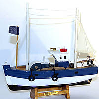 Модель рыбацкого корабля сейнера 30 см YC30