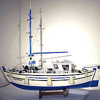 Модель корабля 65 см рыбацкий траулер 9110-65