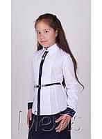 """Строгая блузка в школу с длинным рукавом """"Daintiness"""" Mevis"""