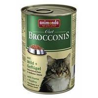Консервы Animonda Brocconis для взрослых кошек с домашней птицей и дичью, 400 гр