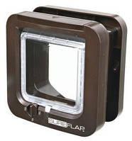 Двухсторонняя автоматическая дверца  для котов SureFlap  21х21см, коричневая