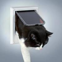 Дверца Trixie для кошки, электромагнитная, 4 позиции, 21,1 х 24.4 см, белого цвета