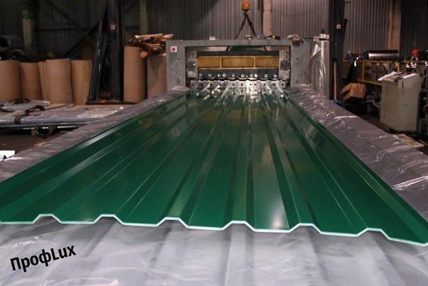 Профнастил НС-20 RAL 6005 (зеленый) толщина 0,45