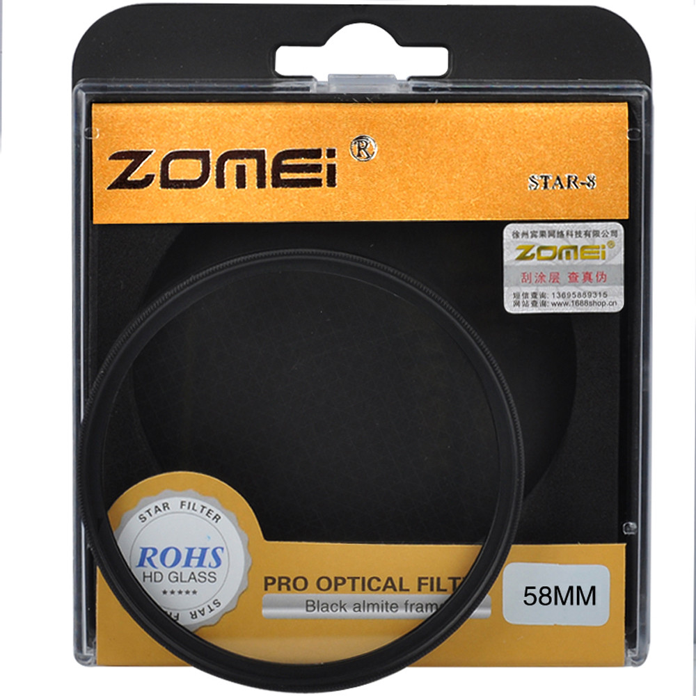 Звездный (STAR-8), 8-ти лучевой светофильтр ZOMEI 58 мм - стекло