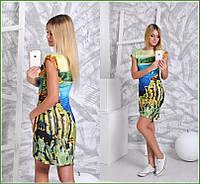 Платье фото Берег моря дайвинговое мини