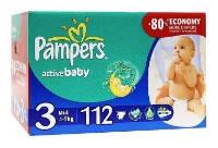 Подгузники Памперс Act. baby Midi (4-9 кг)  112 штук