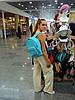 Бирюзовый джинсовый рюкзак городского типа
