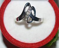 Кольцо на руку, белый металл, белые стразы 23_5_1a59