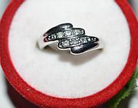 Кольцо на руку, белый металл, белые стразы 23_5_1a60