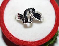 Кольцо на руку, белый металл, белые стразы 23_5_1a62