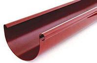 Желоб водосточной системы Verat ;белый,коричневый;диаметр 125 мм; длина 3 м