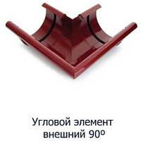 Угол внешний/ внутренний 90° водосточной системы Verat;белый,коричневый;диаметр 125 мм