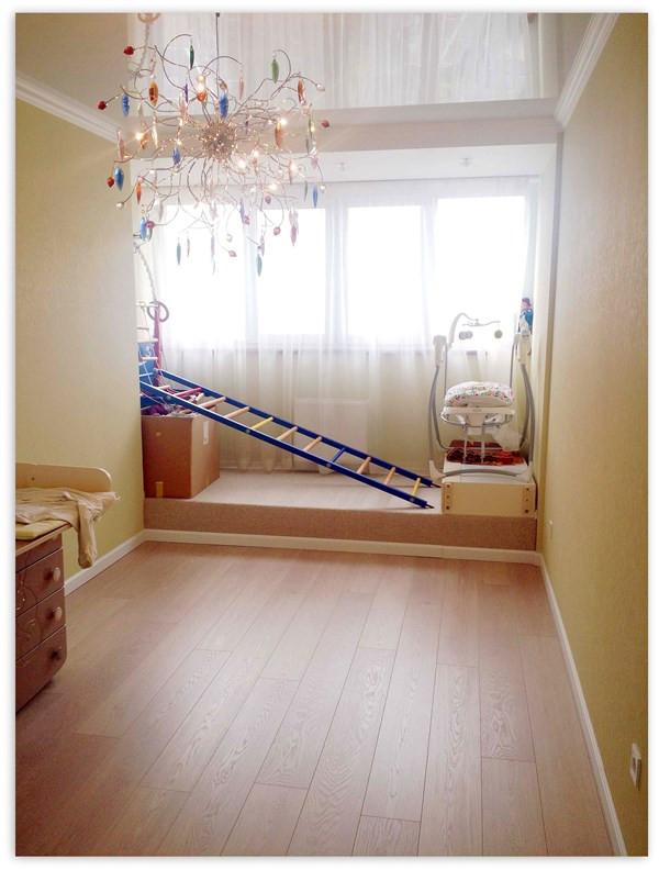 фото совмещения лоджии с комнатой