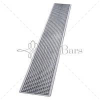 Барный коврик 70х10 см, цвет серебряный The Bars B008MS