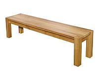 Деревянная лавка без спинки Ларго ТМ ГРАММА, материал дуб массив