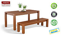 Стол Амберг / Amberg деревянный обеденный кухонный (Грамма ТМ), Бук, 7 цветов