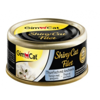 Gimpet Shiny Cat Filet c тунцом и анчоусом 70гр