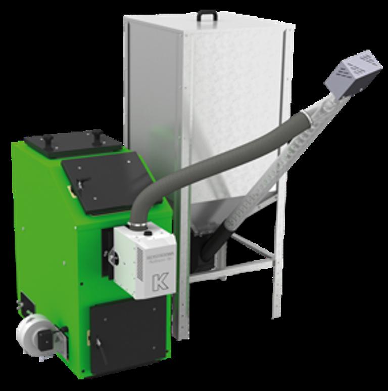 Пеллетный твердотопливный котел с автоматической подачей KOSTRZEWA (Костржева) PELLETS 100 40