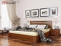 Деревянная кровать Селена с подъемным механизмом, двуспальная, бук, 8 цветов (Эстелла ТМ)