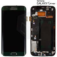 Дисплейный модуль (дисплей + сенсор) для Samsung Galaxy S6 EDGE G925F, зеленый, оригинал