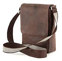 Современная мужская сумка из натуральной кожи винтажного цвета SHVIGEL 00529