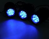 Підводний світильник на сонячній батареї АМФІБІЯ ТРІО Синій, фото 3