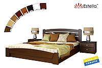Деревянная кровать Селена Аури с подъемным механизмом, двуспальная, бук, 8 цветов (Эстелла ТМ)