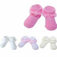Носочки детские сеточка с кружевом