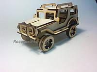 Деревянная машинка Джип, фото 1