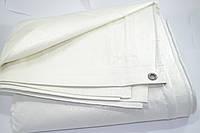 Тент белый полипропилен 220 г/кв.м, размер 3 х 8